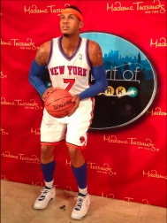 Carmelo Anthony at Madame Tussauds