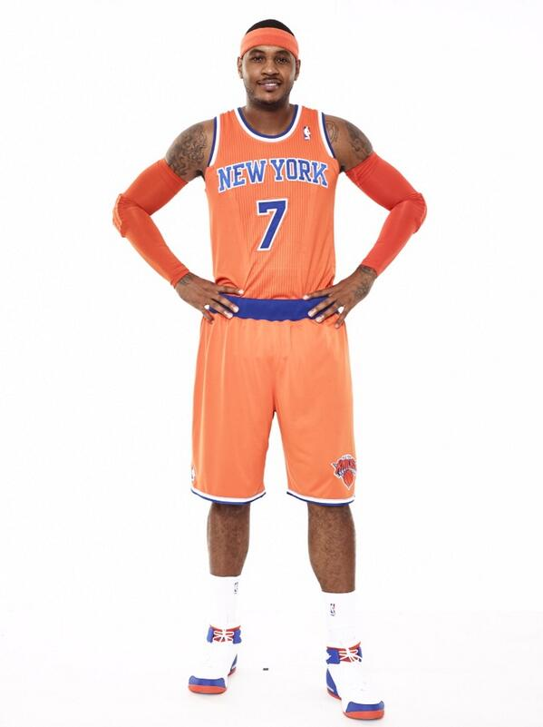 knicks orange jersey